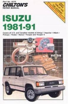 auto repair manual free download 1994 isuzu space navigation system 1981 1991 isuzu repair manual by chilton