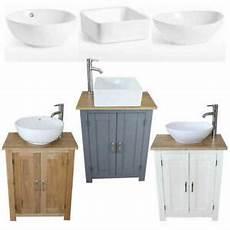 bathroom vanity unit compact oak sink cabinet ceramic