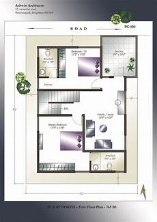 north facing vastu home single floor tamilnadu house plans