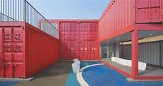 Community Center In Shanghai Made Of Shipping Containers