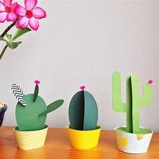 cactus en papier paper plants como fazer artesanato