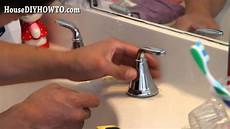 how to replace kitchen faucet handle how to install replace a bathroom faucet