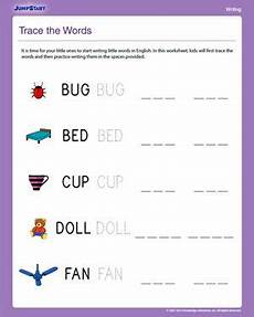 trace the words free writing worksheet for kindergarten kindergarten worksheets writing