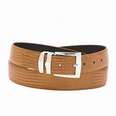 Solid Pattern Leather by S Bonded Leather Belt In Solid Colors Lizard Skin