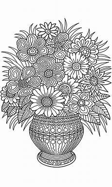 Ausmalbilder Blumen Erwachsene Flower Vase Coloring Page Flower Coloring Pages