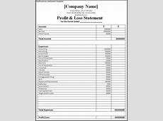 free printable profit and loss self employed
