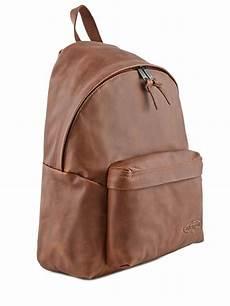 sac a dos en cuir 5184 sac a dos cuir 1 compartiment eastpak marron leather k620l vue secondaire 4 sac