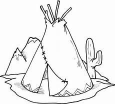 Indianer Tipi Malvorlage Malvorlagen Cowboy Und Indianer Aiquruguay