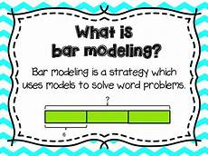 bar modeling posters words anchor charts and a student
