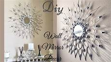 diy quick and easy glam wall mirror decor wall decorating idea youtube