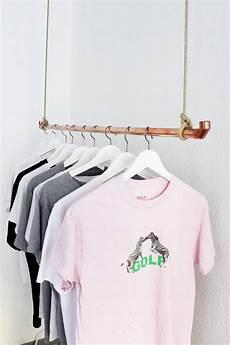 kleiderständer selber machen diy kleiderstange aus kupferrohr selber bauen einfache