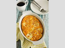 make ahead ham and cheddar egg dish_image