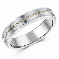 5mm silver 9ct rose gold matt polished wedding ring silver 9ct gold two tone at elma uk