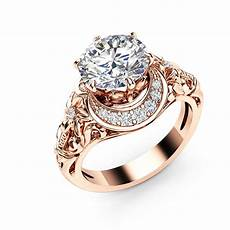 rose colored wedding rings rose gold color wedding band ring for clear austrian cubic zirconia crystal flower knuckle