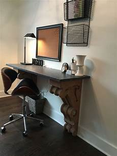 used home office furniture antique corbels used for desk in a vintage office space