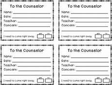 counselor request student forms freebie by klever kiddos tpt