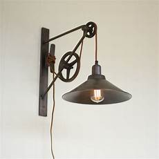 double pulley farmhouse swing arm sconce shades of light