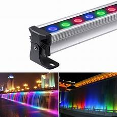 72w dimmable led wall washer rgb led light bar le 174