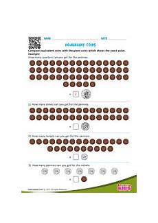 money equivalent worksheets 2142 equivalent coins
