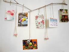 postkarten aufhängen ideen diy deko ast f 252 r karten handmade kultur