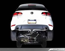 awe tuning cat back turbo back exhaust for 2010 14 vw golf