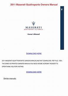 how to download repair manuals 2011 maserati quattroporte parental controls 2011 maserati quattroporte owners manual by shari salomon issuu