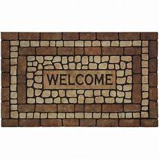 6 Ft Door Mat by Mohawk Home Garden Welcome Brown 1 Ft 6 In X 2 Ft