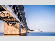 Oresund Bridge Denmark 4K Desktop Wallpaper
