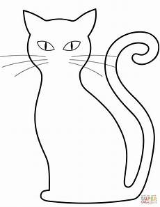 black cat coloring page free printable coloring pages