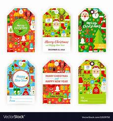 merry christmas gift tag labels royalty free vector image