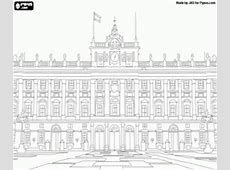 Coloriage Palacio Real de Madrid, Espagne à imprimer