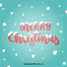 merry christmas background with snow vector free download