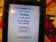 Lewis Gift List Wedding