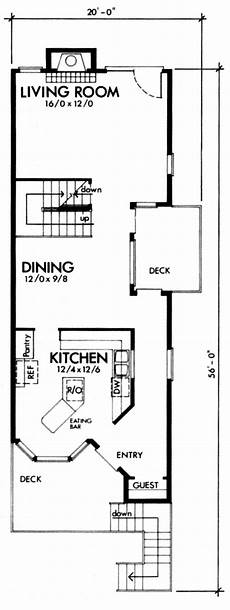 narrow lot house plans with front garage narrow lot style house plan 57366 with 2 bed 2 bath 1