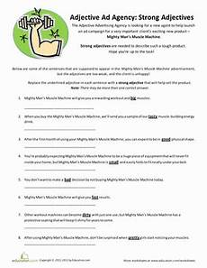 strong adjectives worksheet education com