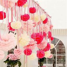 10pcs 8 quot diy tissue paper pompom paper flowers ball home decor wedding birthday party decorations