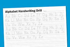 alphabet handwriting drill alphabet writing worksheets