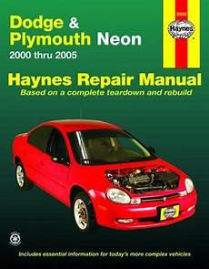car repair manuals online free 1998 plymouth neon seat position control dodge plymouth neon haynes repair manual 2000 2005 hay30036