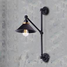 industrial wall sconce with adjustable fixture arm in black finish beautifulhalo com