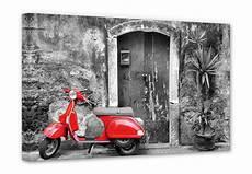 Leinwandbilder Schwarz Weiß - scooter black white canvas wall