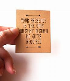 No Gifts Wedding your presence is the only present desired no gifts invitation