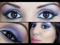 trucco viola e occhi castani beautydea