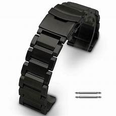 Stainless Steel Band Replacement black stainless steel links bracelet replacement