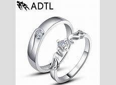 2018 Korean Couple Rings S925 Silver Wedding Ring Angels