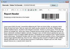 how to insert barcode images into the header or footer