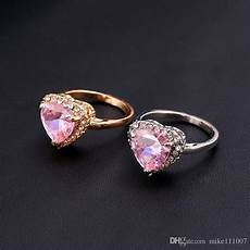 2019 heart shape unique wedding rings cheap rose gold