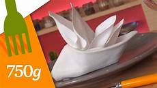 pliage de serviettes en forme de voilier 750g