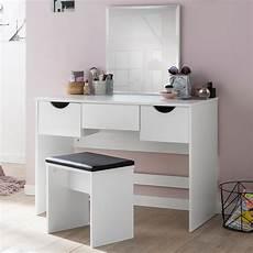 schminktisch mit spiegel und hocker finebuy schminktisch fb51629 kosmetiktisch frisiertisch
