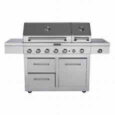 Kitchenaid Bbq Grill Home Depot by Kitchenaid 6 Burner Dual Chamber Gas Grill In Stainless