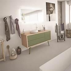 meuble salle de bain scandinave vert kaki jaune ou bleu